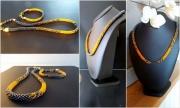 """bijoux perles mandarine anthracite orange : Collier """"Mandarin"""""""