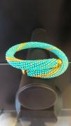 "bijoux marine perles turquoise dore ocean : Bracelet ""Océan"""
