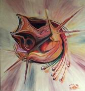 tableau abstrait larme coquillage reve : Larmes de coquillage