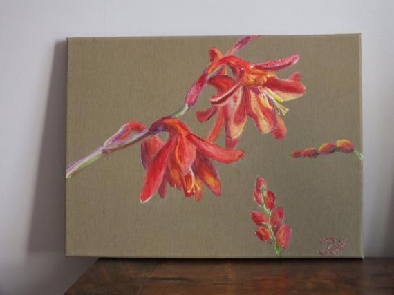 TABLEAU PEINTURE été Fleurs Acrylique  - fleurs