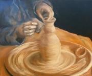 dessin personnages potier terre creation : les mains dans l'argile
