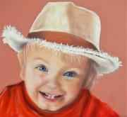 dessin personnages malice enfance sourire chapeau : la petite fille au chapeau