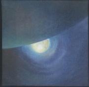 tableau paysages nuit cosmos lune terre : Nuit lunaire