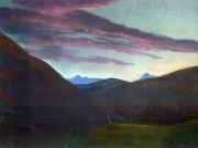 tableau paysages hautespyrenees aurore estive fraicheur : Lever du jour sur le Montaigu