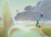 tableau nus femme nue plage mer soleil couchant : Sur la plage
