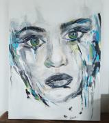 tableau personnages portrait moderne contemporain regard : Aïna