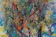 tableau abstrait peinture art abstrait anda biodiversite : Biodiversité