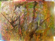 tableau abstrait revolution huile couteau anda : (R)Evolution