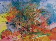 tableau abstrait nature vivante peinture toile : Nature Vivante