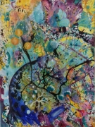 tableau abstrait galerie energie libr eclosion anda : Eclosion