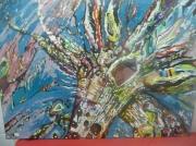 tableau autres miroir tableau girafe peinture : Auto-portrait