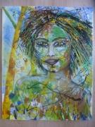 tableau personnages portrait peinture anda libre2 : Esprit Libre