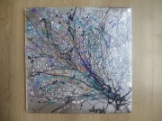 tableau abstrait lumiere2 huile sur toile peinture anda : Lumière2