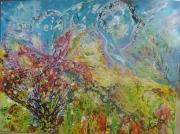 tableau abstrait fleurs des hauts anda reunion : Fleurs des Hauts