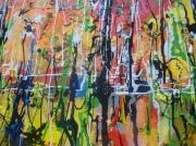 tableau abstrait reflet peinture abstraite toile : Reflet