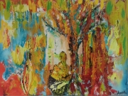 tableau abstrait elle femme vie amour : Elle