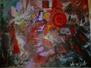 tableau abstrait mamadou abstrait huile toile : CAFRE
