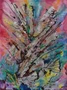 tableau abstrait synergie energie libre peinture anda : Synergie