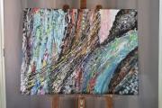 tableau abstrait cascade lumiere tropical reunion : Paisible