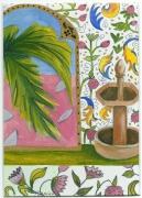 tableau paysages paysage couleurs fleurs : Argelus