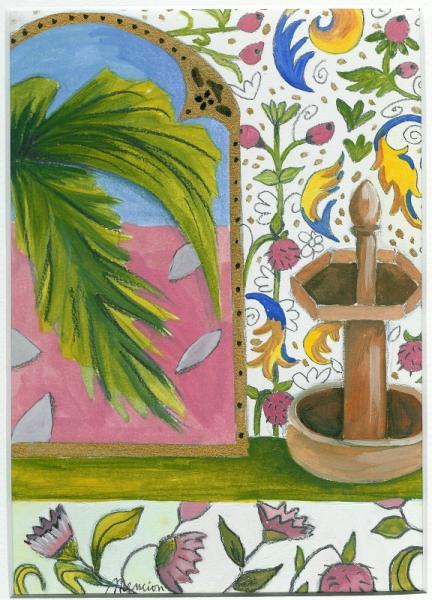 TABLEAU PEINTURE paysage couleurs fleurs Paysages Peinture a l'huile  - Argelus
