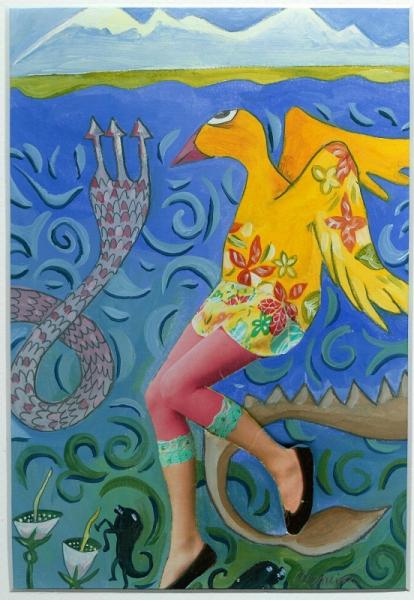 TABLEAU PEINTURE Bestiare animaux couleur Animaux Peinture a l'huile  - Balatx i Lanos