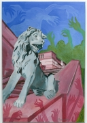 tableau animaux couleurs lion bestiaire : El castell de la fortuna