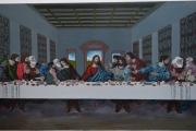 tableau personnages jesus peinture la sainte cene peinture ,a l hu joky kamo : peinture jésus