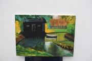 tableau paysages paysage parc peinture ,a l hu joky kamo : peinture tableau d'automne