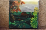 tableau paysages peinture de paysage peinture tableau ,a l huile joky kamo : campagne