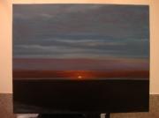 tableau paysages peinture coucher de peinture tableau ,a l huile joky kamo : tableau peinture coucher de soleil