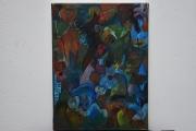 tableau tableau peinture abs tableau ,a l huile joky kamo : tableau peinture abstrait