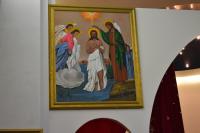 tableau peinture jésus baptême