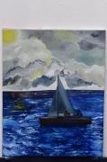 tableau paysages tableau peinture cou paysage peinture ,a l hu joky kamo : tableau peinture coucher de soleil