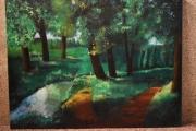 tableau paysages campagne et montaine tableau peinture ,a l huile joky kamo : peinture tableau printemps