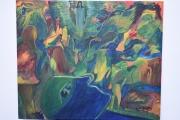 tableau abstrait peinture abstrait peinture tableau ,a l huile joky kamo : peinture portraite