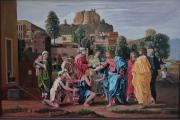 tableau personnages jesus guerit l aveugl 127x87 peinture ,a l hu : tableau peinture jésus