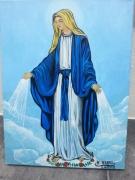 tableau personnages peinture saintemari tableau ,a l huile joky kamo : tableau peinture vierge marie