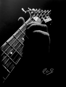 tableau personnages tableau de guitare guitariste deco musique : decorations-murales-tableau-pastel-moderne-design-guitariste n°1