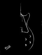 tableau autres tableau de guitare guitariste musique design : decorations-murales-tableau-pastel-moderne-design-guitare n°1