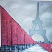 tableau paysages toureiffel monument : PARIS la nuit