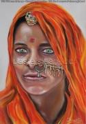 tableau personnages rani indienne bijoux : Rani