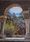 tableau paysages cloitre st martin canigou : Cloitre de St Martin du Canigou