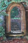 tableau paysages dinar jardin grille : vers le jardin de Dinar
