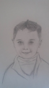 dessin personnages : le garçon joyeux