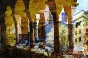art numerique catalogne monastere espagne rodes : Monastere San Pere de Rodes-2