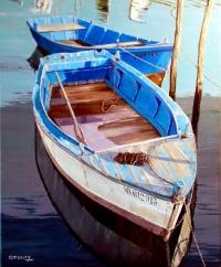 Barques au port à Marennes, Charentes Maritimes