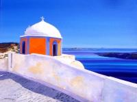 Eglise Agios Stylianos à Fira, Ile de Santorin