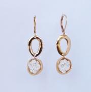 bijoux fleurs boucles d oreil blanc : 4