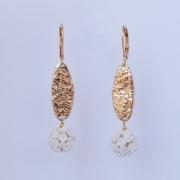 bijoux fleurs boucle d oreill blanc : 2